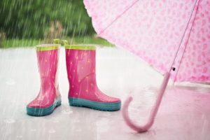 rainy day fund - umbrella and boots
